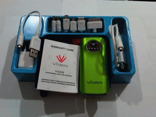 Kelengkapan Vivan X05 5600mAh